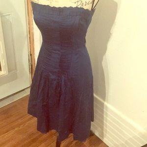 Ted baker blue strapless dress